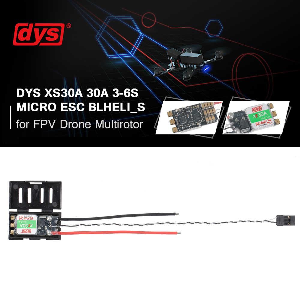 DYS XS30A Micro CES 30A 3-6 S BLheli_S soporte del Firmware Oneshot42 y Multishot 500 k de eRPM para FPV piezas de espacio para Dron RC