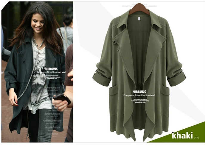 Cardigan chiffon military jacket women female bomber jacket plus ...