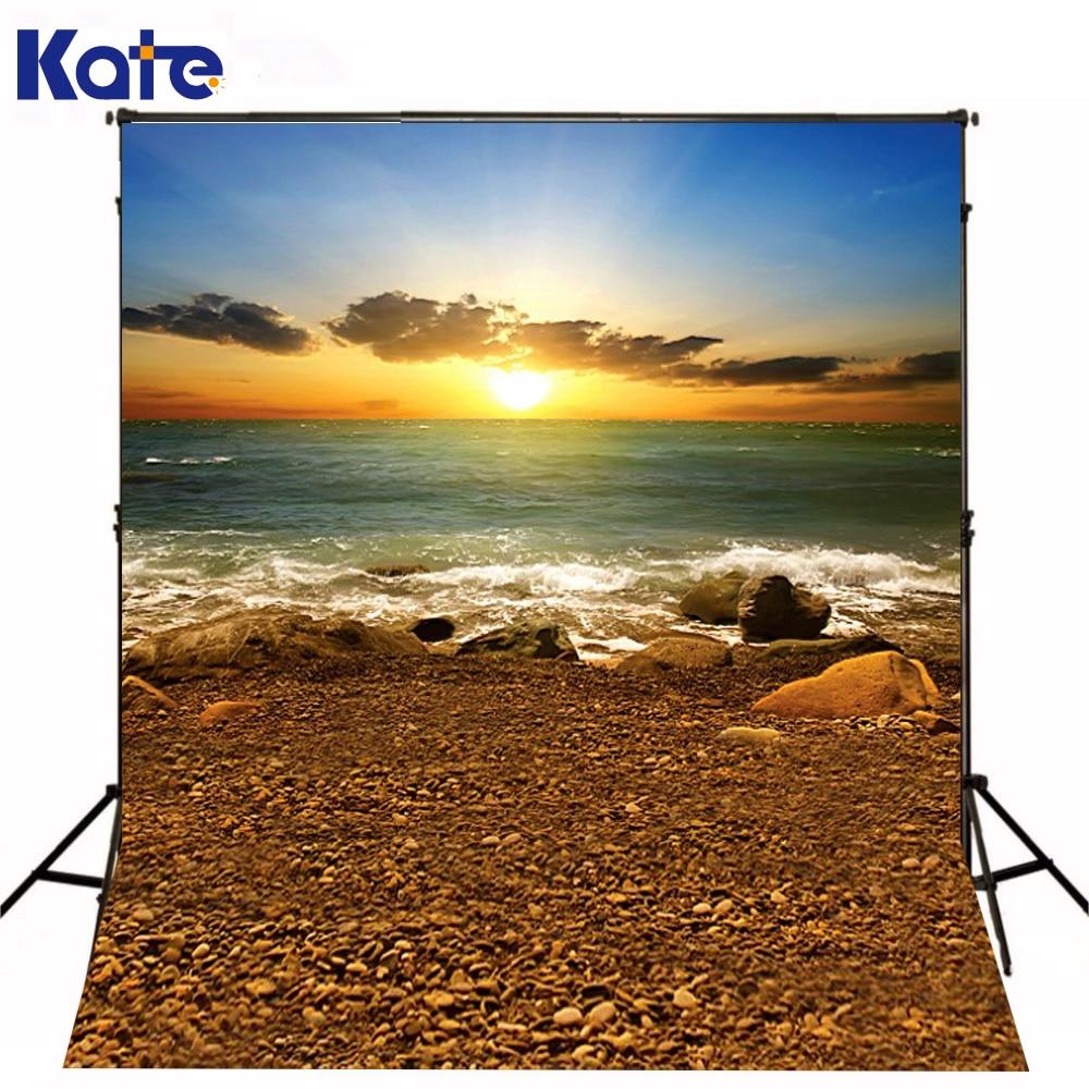 300 Cm * 200 Cm (environ 10Ft * 6.5Ft) Fundo Sunshine Stone Beach3D bébé photographie arrière-plan Lk 2044