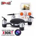 Las MÁS! MJX X906T 5.8G FPV Aviones No Tripulados Con HD Cámara Construida En 2.31 Pulgadas LCD de Pantalla 3D Voltea Resistencia Al Viento Mode2 RC Quadcopter