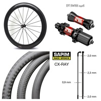 High End Tubeless Carbon Bicycle Wheel 38mm 50mm 60mm 88mm depth 700c Road Bike Wheelset DT240S /DT350S Hub Sapim CX Ray Spoke