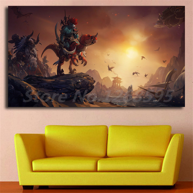 Troll Race World Of Warcrafts Hunter HD Wallpaper Canvas Posters Prints Wall Art Paintin ...