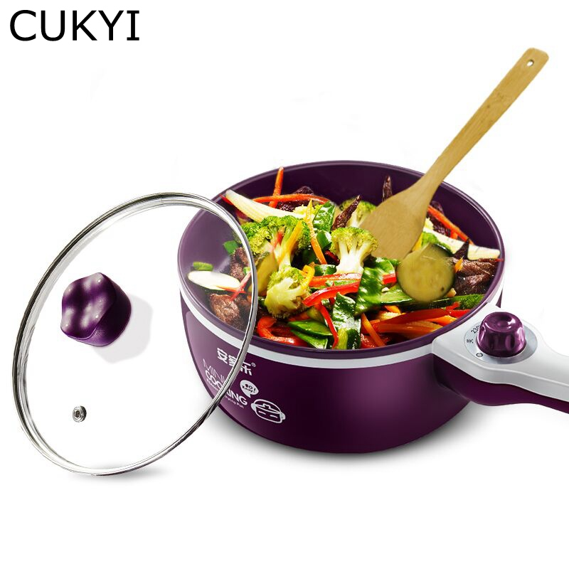 CUKYI 700W Multifunctional 300/700W electric cooker for Home/dormitory Mini cooking/Stewing/Steaming machine Stainless steel cukyi household electric multi function cooker 220v stainless steel colorful stew cook steam machine 5 in 1