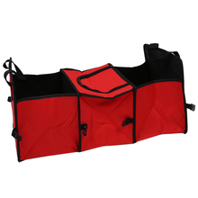 Red 2 in 1 Car Boot Organiser Shopping Tidy Heavy Duty Foldable