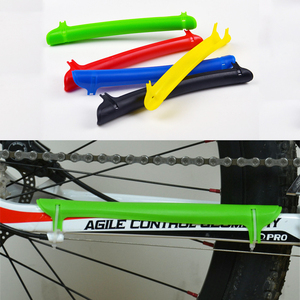 Plastic bicycle chain protection bicycle frame protection chain chain rear fork protection cover pad Chain Cover Strong Plastic(China)