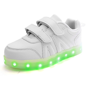 Image 3 - Size 25 37 USB Children Light Shoes Kids Luminous Sneakers for Boys&Girls Led Shoes Krasovki with Backlight Lighted Shoes