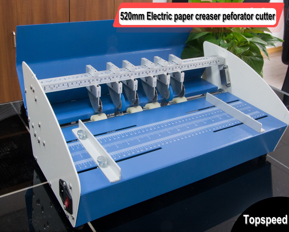 Electric Paper Creaser Perforator Cutter 3 in 1 combo 520mm title=