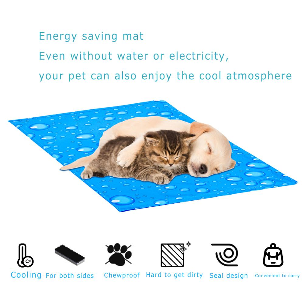 Pet Dog Beds Cooling Mat for Dogs Puppies Ice Pad Breathable Dog Sleeping Mat Pad Waterproof Dog Kennel Bed Non toxic Pet Mats in Houses Kennels Pens from Home Garden