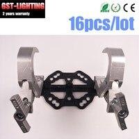 16pcs/lot Aluminum moving head beam quick lock clamp Professional Stage Equipment Stage Light Truss DJ