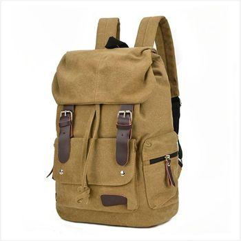 Bacisco Vintage Canvas Backpack Women Men Bookbags Student School Backpacks for Teenagers Decoration Belt Designer Travel Bags shoulder bag