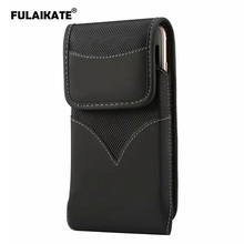 FULAIKATE 6.3 Rotate Clip Matte Cloth Universal Phone Bag for iPhone Xs Max Waist Pouch Huawei P30 Pro Mate 20 Sport Pocket