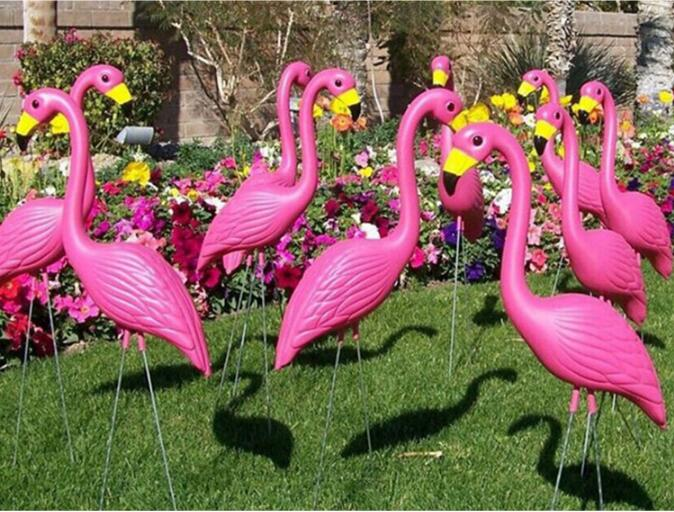 2Pcs/Set Lifelike Flamingo Ornaments For Home Garden Simulation bird insert Yard Lawn Wedding Ceremony Decoration festival Decor 1