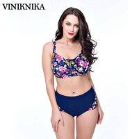 VINIKNIKA2017 בתוספת שומן כדי להגדיל את גודל הדפסה גדול כוסות פיצול גבוה מותן בגדי ים בגדי ים קיץ חליפת ביקיני נשים