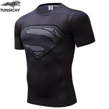 New 2017 How Man Compression Shirt Anime Superhero Captain America Superman 3D T Shirt Fitness Tights Base Layer T Shirts