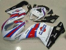 Прессования обтекатель комплект для Ducati 848 1098 1198 07 08 09 10 11 Белый Черный Красный обтекатели комплект 848 1198 2007-2011 as18