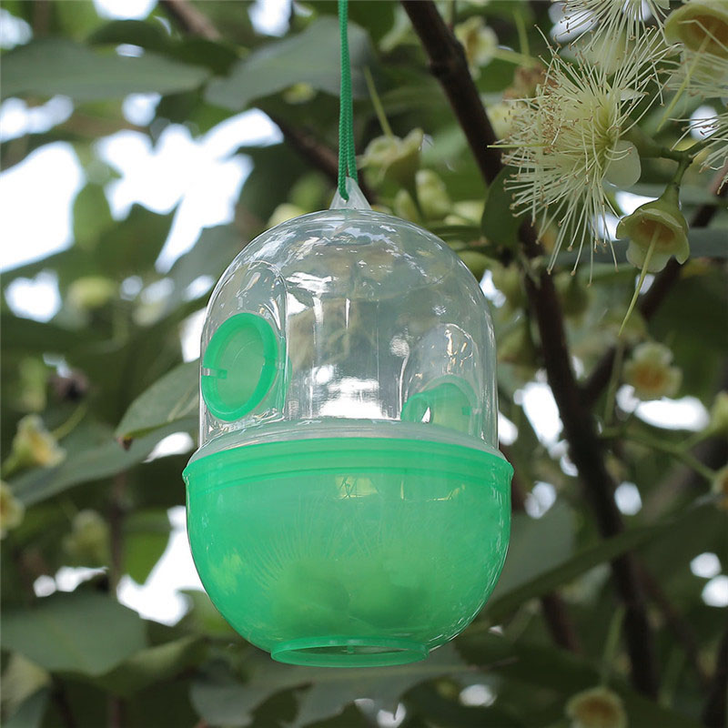 Bee Trapper Pest Repeller Insect Killer Pest Reject Insects Flies Hornet Trap Catcher Hanging On Tree Keeping ToolsGardening sup in Traps from Home Garden