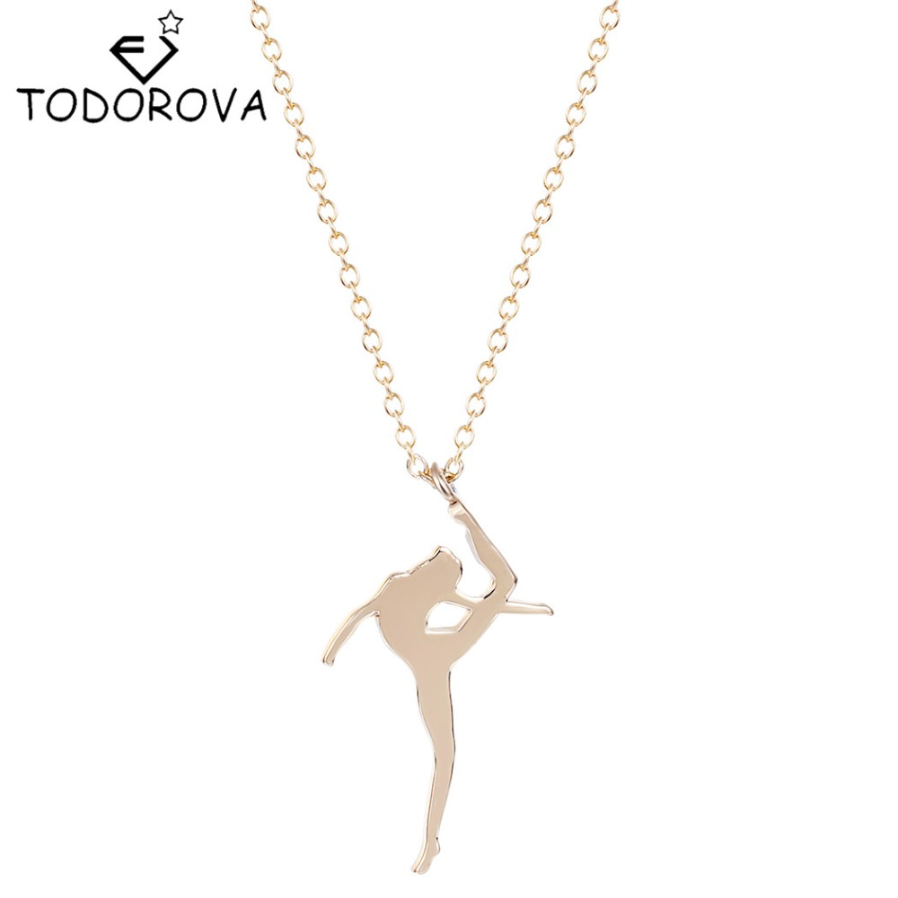 Todorova Dancing Ballerina Dancer Ballet Girl Pendant Necklace Women Accessories Wholesale China Best Friends Forever Love