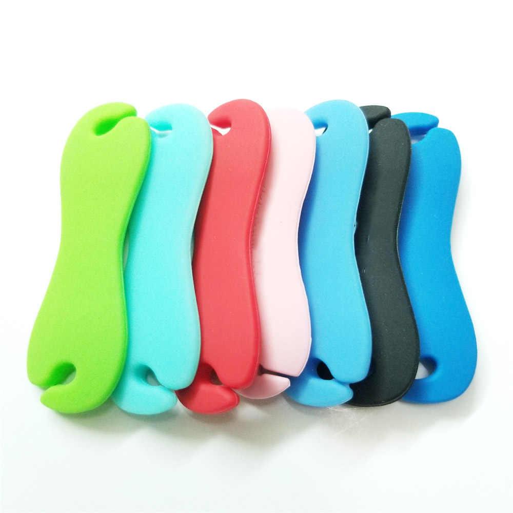 3 sztuk kształt kości słuchawki ze zwijaczem Protector akcesoria kabel USB giętki przewód organizator