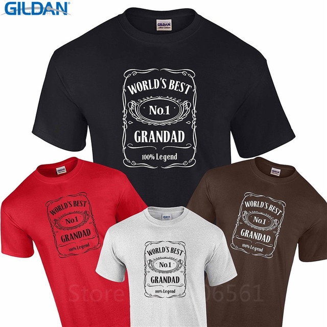 Cool Graphic Tees Design Short Sleeve Worlds Best Grandad Birthday Gift Grandfather Dad Present S-Xxxl Mens T Shirts