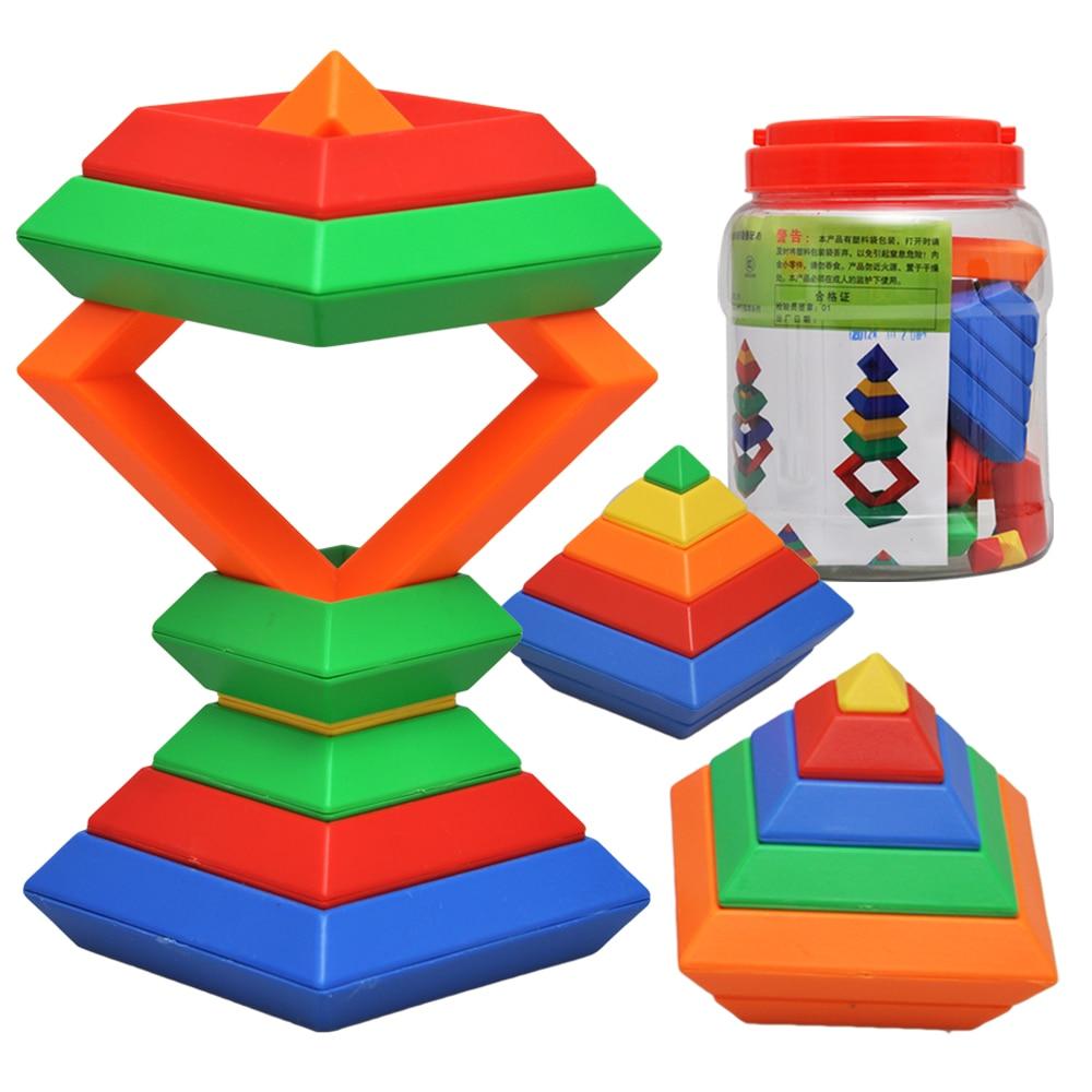ФОТО Ni rhombus blocks pyramid magicaf blocks baby toy
