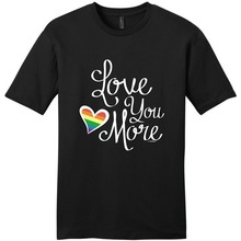Graphic Tees Short Sleeve Summer O-Neck Love You More Gay Marriage Pride Lesbian  Tee Shirt For Men