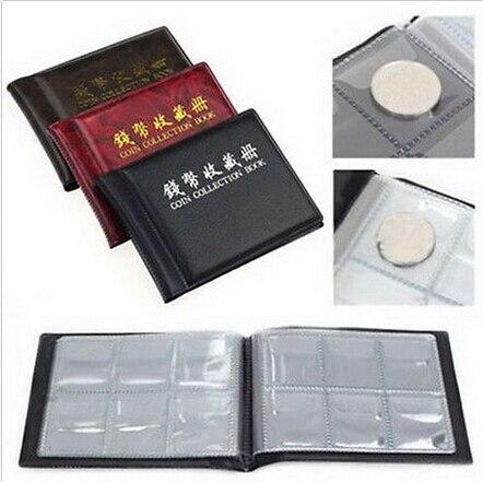 1 יחידות איסוף מטבע אלבום 60 מחזיקי מטבעות ספר אוסף גלרית מטבע צבע אקראי ספר