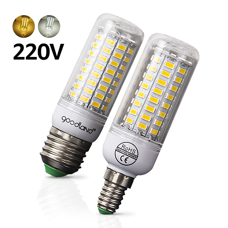 E27 LED Bulb E14 LED Lamp SMD5730 220V 230V LED Light 24 36 48 56 69 72LEDs Corn Light Chandelier Lighting for Home Decoration led lamp 220v 240v b22 bayonet smd5730 led corn light 24leds home decoration indoor lighting led bulb