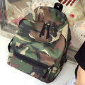 Kajie Cool Canvas Motion Vintage Green Backpack Casual Bag Student School Camouflage Sac A Dos Toile Mochila For Teenage Girls
