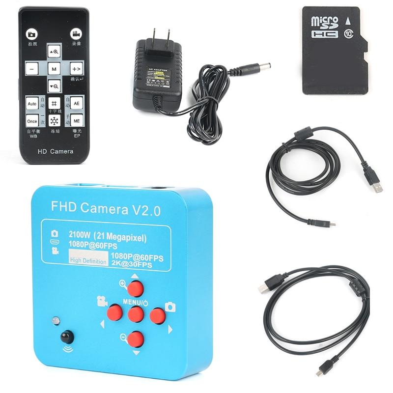 2018 Full HD 1080 p 60FPS 2 k 2100 w 21MP HDMI USB Industrial Câmera De Vídeo Microscópio Eletrônico Digital Para telefone CPU Reparação PCB