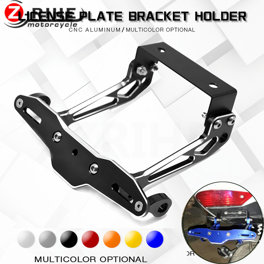 Motorcycle Adjustable Angle Aluminum License Number Plate Frame ...