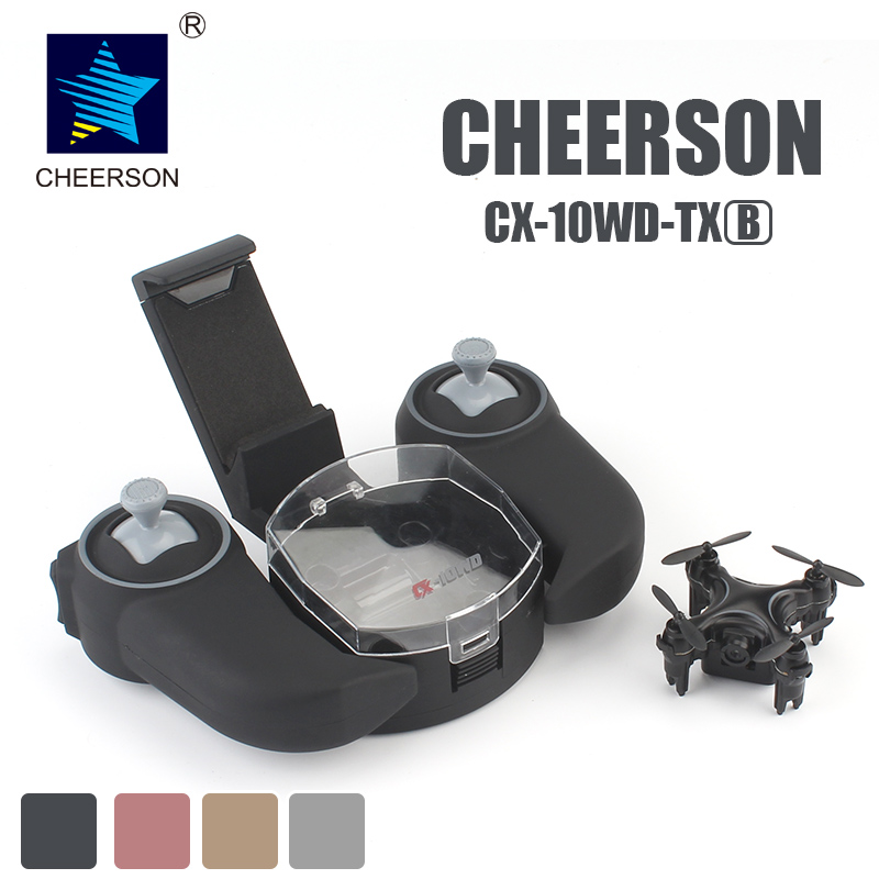 CHEERSON CX-10WD-TX 2.4G FPV RC Mini Drones with Camera Height Hold Mode CX-10WD Phone Controlled Mini Quadcopter With Camera cheerson cx 10w cx10w cx 10w tx mini drone quadcopter with 0 3mp camera drones rc helicopter remote control toys vs jjrc h20