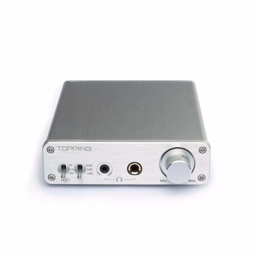 Новый Топпинг A30 Настольный усилитель для наушников аудио усилитель 3,5 мм/6,35 мм выход для наушников TPA6120A2 усилитель