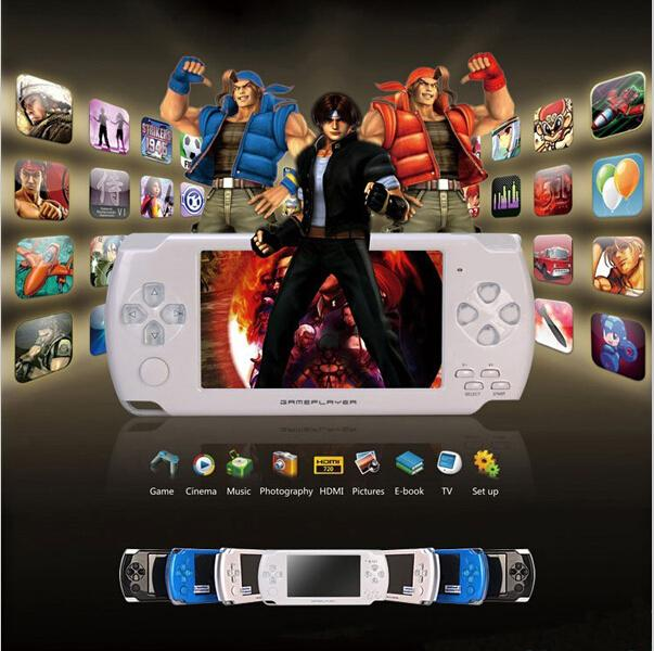 Hot 4GB 4.3 inch LCD Screen MP4 MP5 Player Games Console Handheld Game free Numerous games ebook/FM/1.3 MP Camera