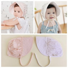 Yundfly Fashion Cute Baby Girls Palace Lace Hat Newborn Spring Flower Caps Kids Headdress Photography Props