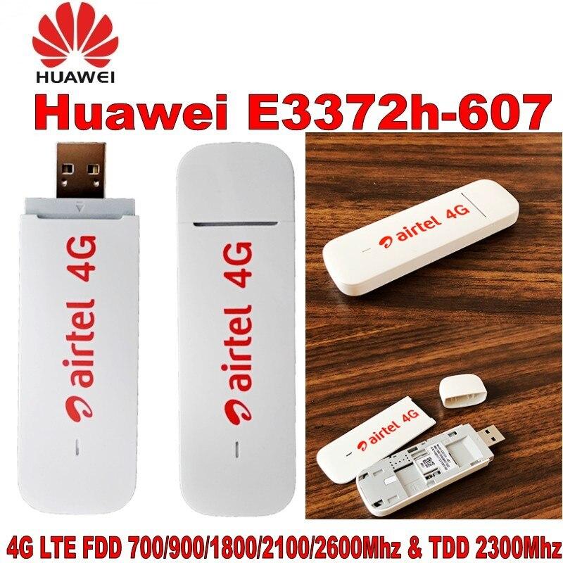 Lot de 100 pièces Débloqué Huawei E3372 E3372h-607 4G LTE 150 Mbps Modem USB Dongle USB