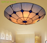 100 Hand Made Tiffany 30 40cm Glass Led E27 Ceiling Lights For Bedroom Living Room Hotel