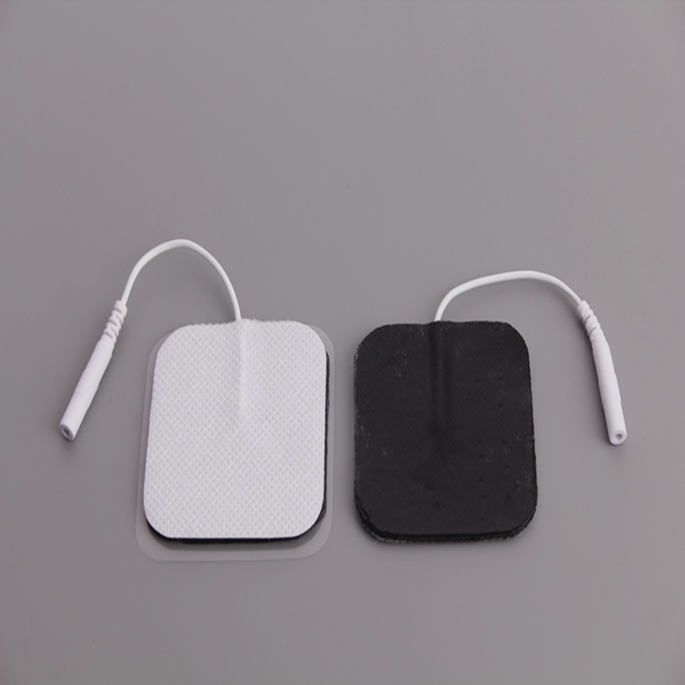 DHL Freeshipping 6000pcs lot Tens Machine Electrode Pads with cable for full body massager pulse therapy