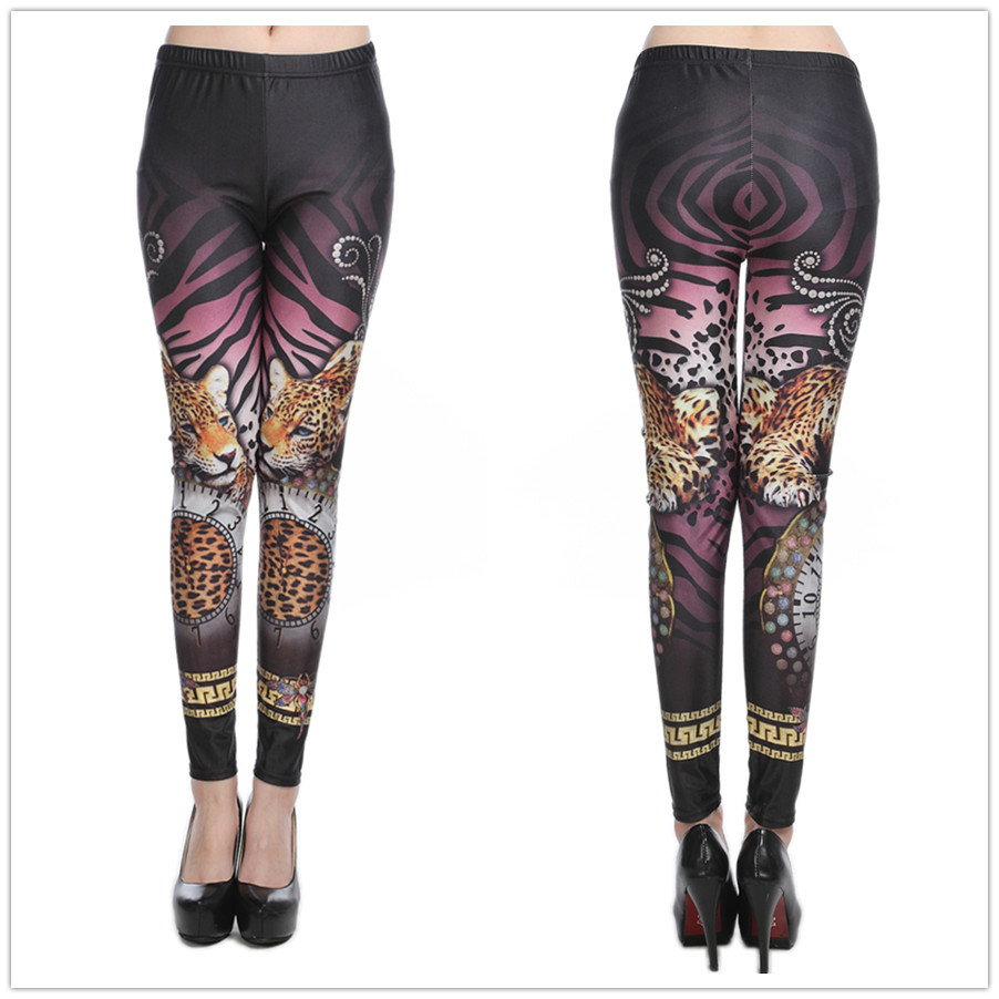2018   Leggings   Hot Sales New arrival Womens Sexy Fitness   Leggings   Fashion Tiger Printed   Leggings   High Elastic Drop shipping
