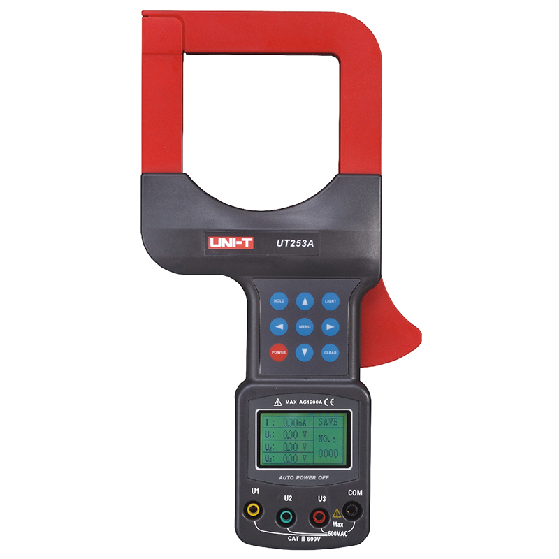 UNI T UT253A Auto Range LCD Display Diameter Clamp Leakage Current Meter UT253A w/RS232 Data Hold