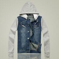 Plus Size M 5XL New Casual Slim Denim Men Jeans Patchwork Cotton Coat Men S Jacket