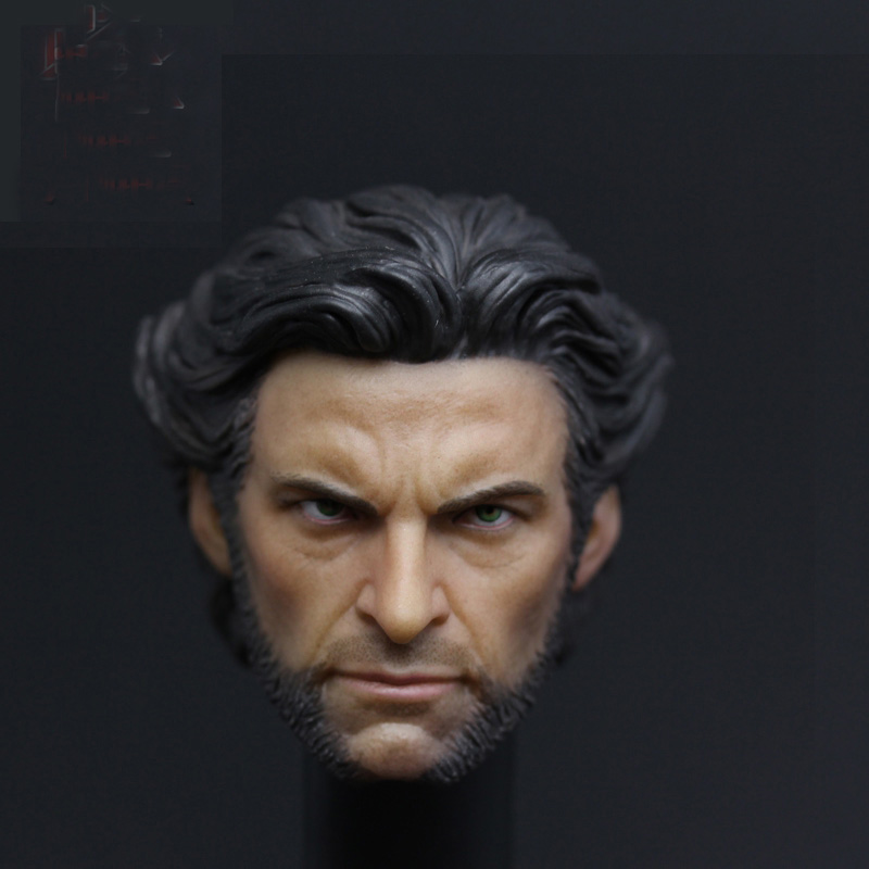New Arrival 1/6 Custom scale Head Sculpt Wolverine Hugh Jackman X-Men for HT body 1 6 scale male head wolverine head sculpt old hugh jackman logan x men for 12 action figure body