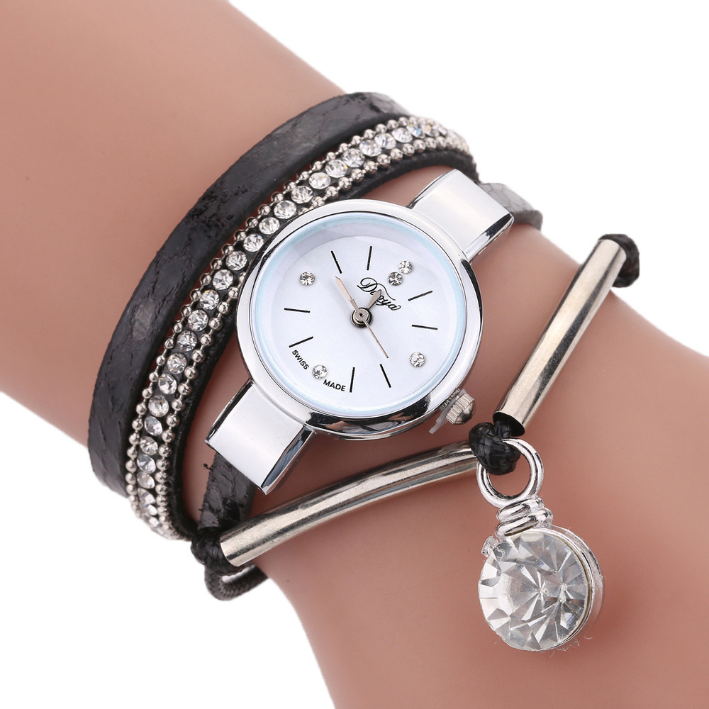 Woman wach Hours quartz Leisure Fashion Creative Women Girls Ladies Fashion Analog Quartz Jewelry Watches Bracelet Wristband #
