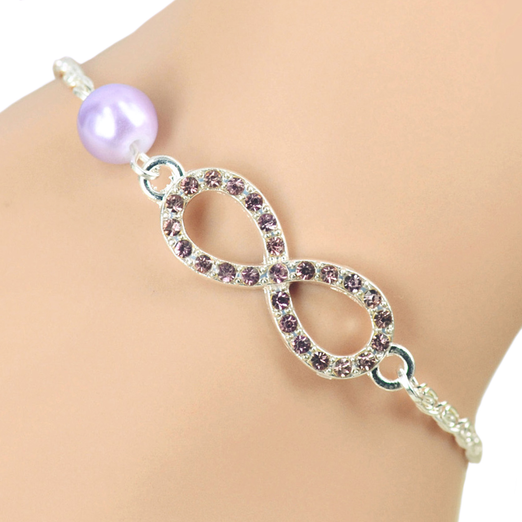018ba34b2 2017 Fashion Women Bracelets Love Jewelry Silver Plated Chain Imitation  Pearl Charm Bracelets For Women Rhinestone Bracelets