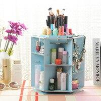 Makeup Organizer 360 Degree Rotation Adjustable Multi Function Cosmetic Storage DIY Large Capacity