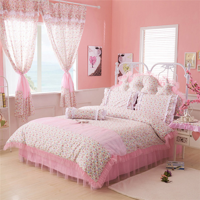 High Quality Romantic Floral Princess Bedding Sets 100% Cotton ...
