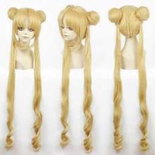 WIG Girl Sailor Moon Cosplay Tsukino Usagi And Princess Serenity wig Free Shipping(China)