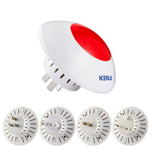 Wireless Flashing Siren Multipurpose Stand Horm  Alarm System  System Red Light Strobe Siren 433 MHz  Wireless Siren