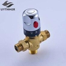 Uythner Стандартный 1/2 Керамика картридж коснитесь Управление смешивания Температура воды термостатический смесительный Клапаны
