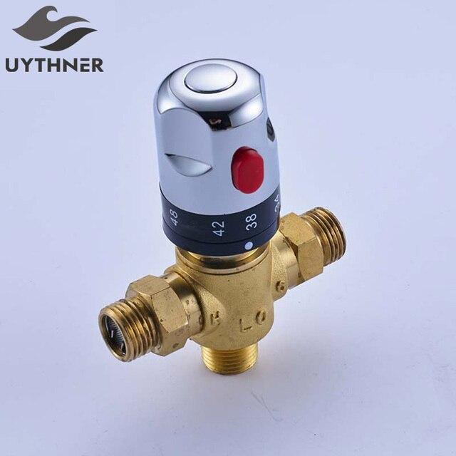 Uythner Standard Thermostatic 1/2 Ceramic Cartridge Tap Control Mixing Water Temperature control Valve Bathroom Accessories