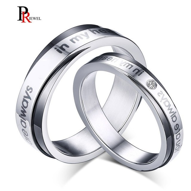 Promise Love Wedding Rings for Women Man You Are Always In My Heart Alliance Anel